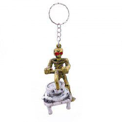 Halloween High-quality Rubber Stone Grinder Push Key Chain -
