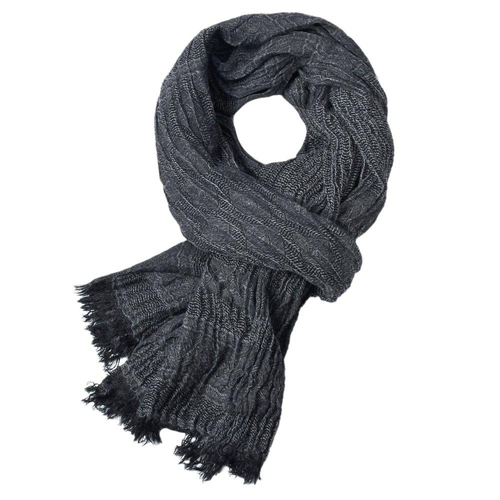 Outfit Newest Fold Yarn-Dyed Soild Warm Soft Scarves for Men