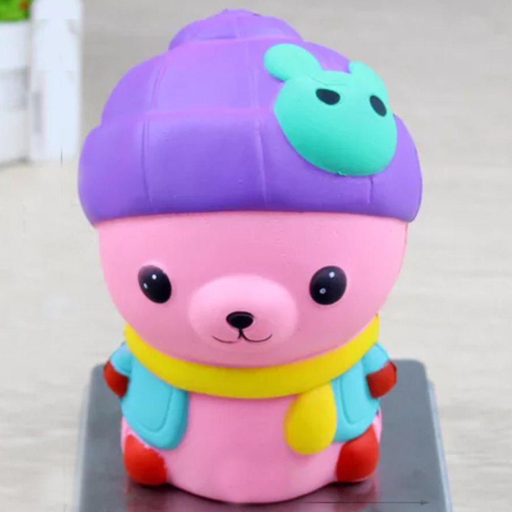 Chic Jumbo Squishy Bear with Rabbit Hat Toys