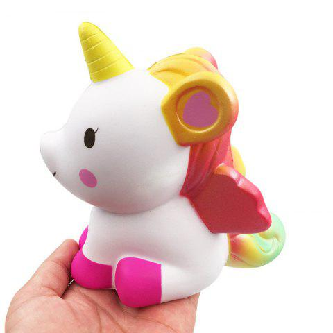 Online Jumbo Squishy Simulation Cute Unicorn Squeezed Decompression Toy