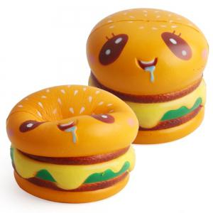 Hamburger Shape Slow Rebound Decompression Slow Rising Stress Reliever Toy 2pcs -