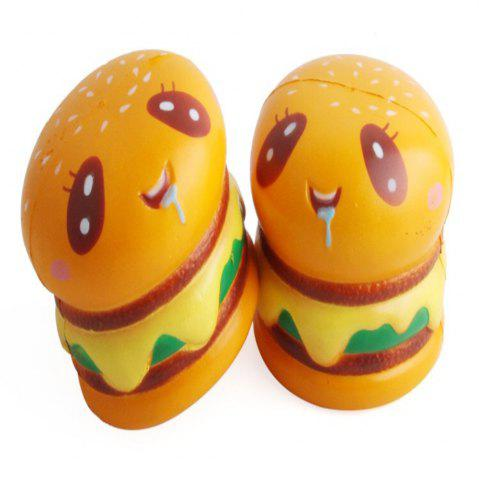 Trendy Hamburger Shape Slow Rebound Decompression Slow Rising Stress Reliever Toy 2pcs