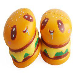Hamburger Forme Slow Rebond Décompression Slow Rising Stress Reliever Jouet 2 pcs -