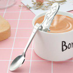 Mermaid Curved Stainless Steel Condiment Coffee Spoon Kitchen Bar Cafe -