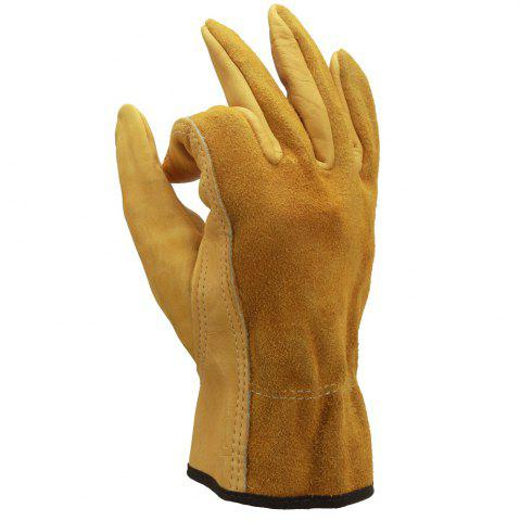 Hot OZERO Cowhide Leather Work Gloves Drivers Safety Unlined Durable Wear-Resistant