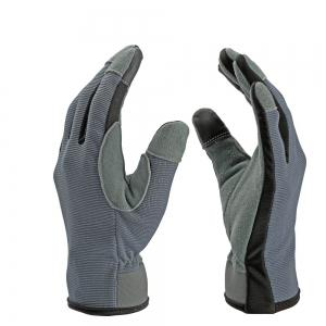 OZERO Garden Gloves Deerskin Leather Carpenter Builder Mechanic Farmer Tradesman -