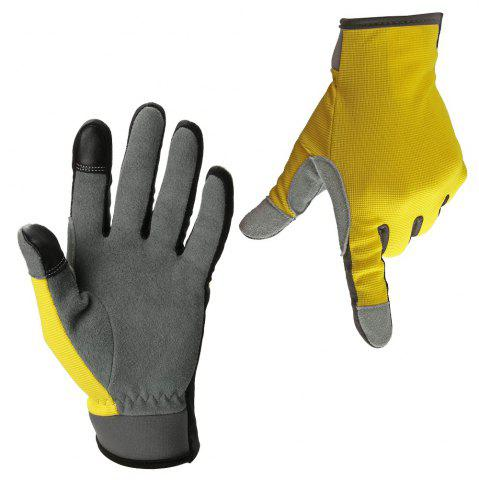 Trendy OZERO Garden Gloves Deerskin Leather Carpenter Builder Mechanic Farmer Tradesman