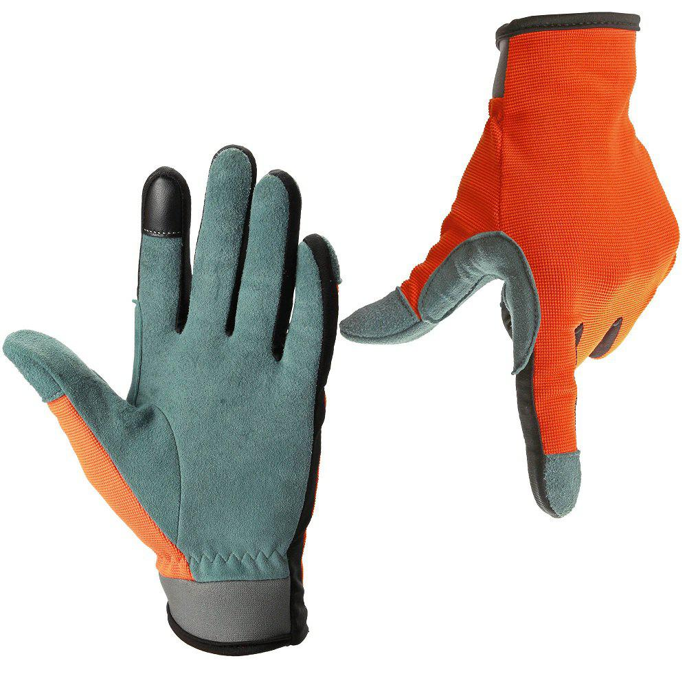 Cheap OZERO Garden Gloves Deerskin Leather Carpenter Builder Mechanic Farmer Tradesman