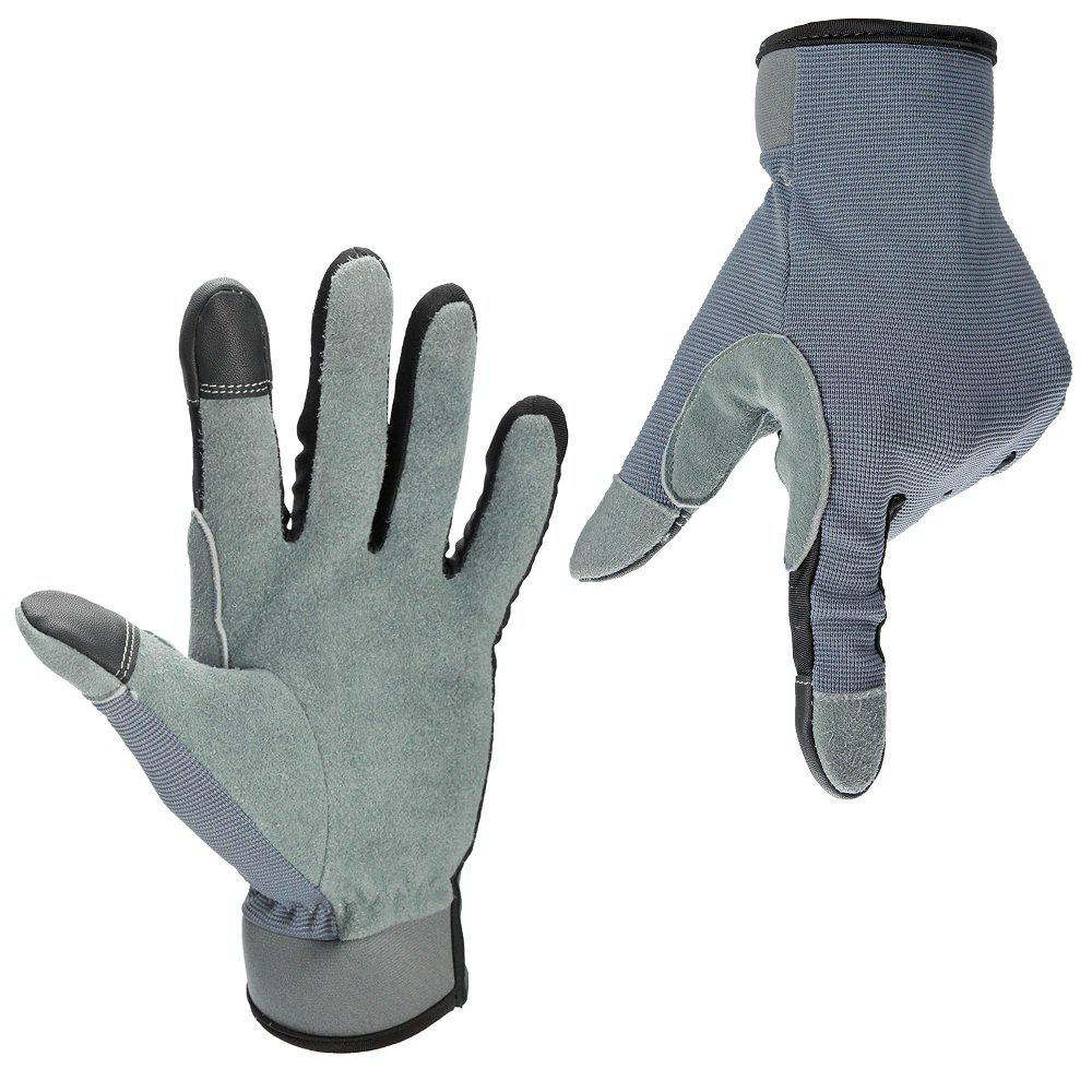 Affordable OZERO Garden Gloves Deerskin Leather Carpenter Builder Mechanic Farmer Tradesman