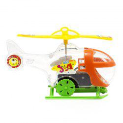 Transparent Mini Windup Winding Helicopter Children Toy -