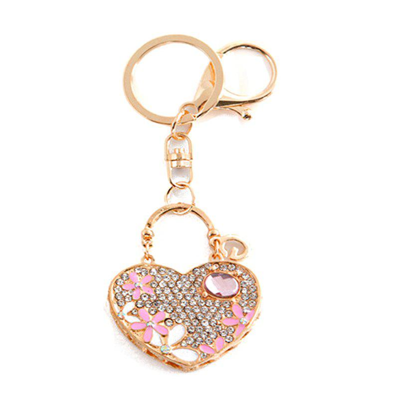 Outfits Love Heart Car Pendant Ladies Bag Alloy Keychain