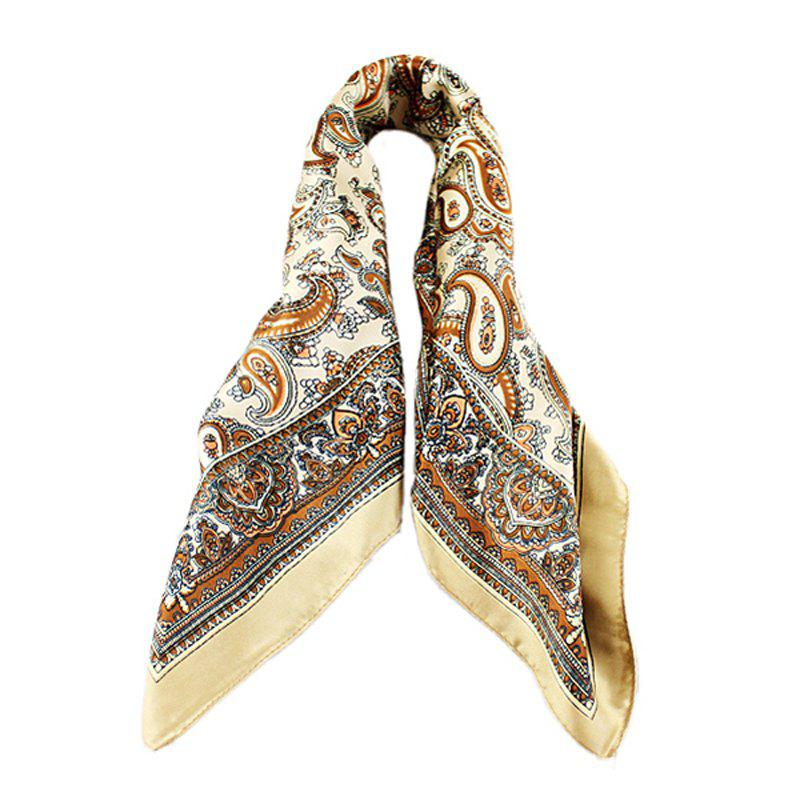 Fancy Chinese Style Printing Square Scarf