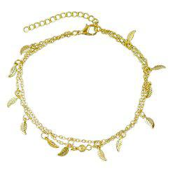 Bohemian Jewelry Double-layer Leaf Chain Anklets -