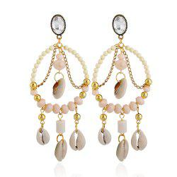 Boucles d'Oreilles Coquilles Nationales de Cercle de Vent National -
