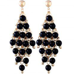 Boucles d'Oreilles Diamants OL Style Rond Perle Fashion -