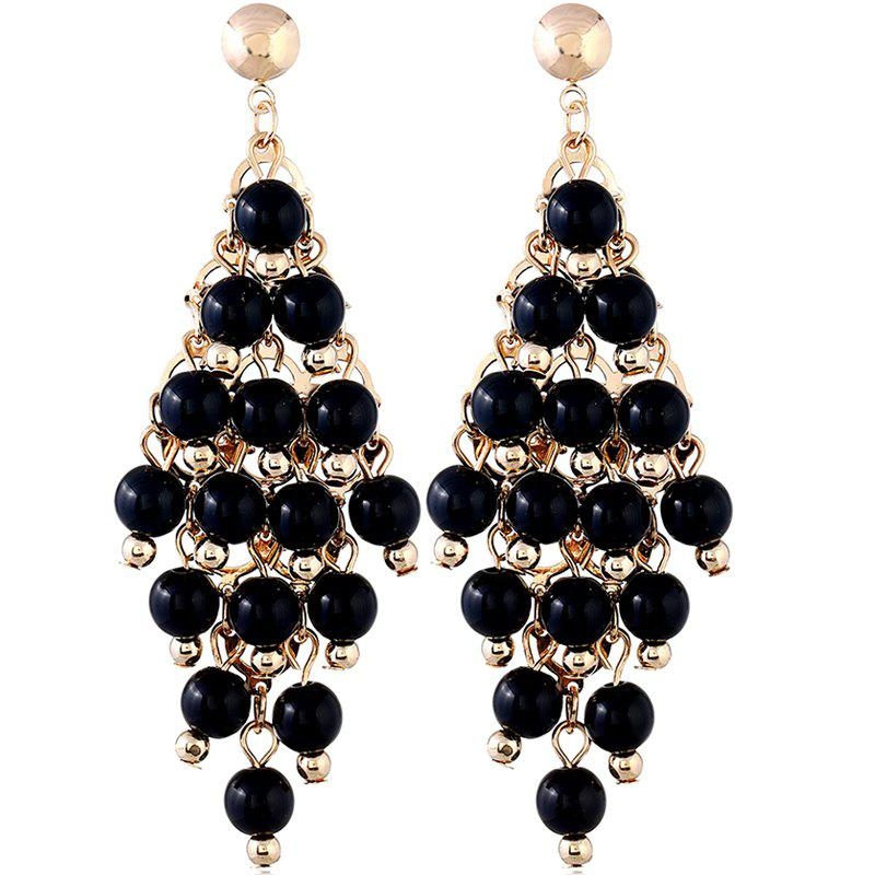 Boucles d'Oreilles Diamants OL Style Rond Perle Fashion