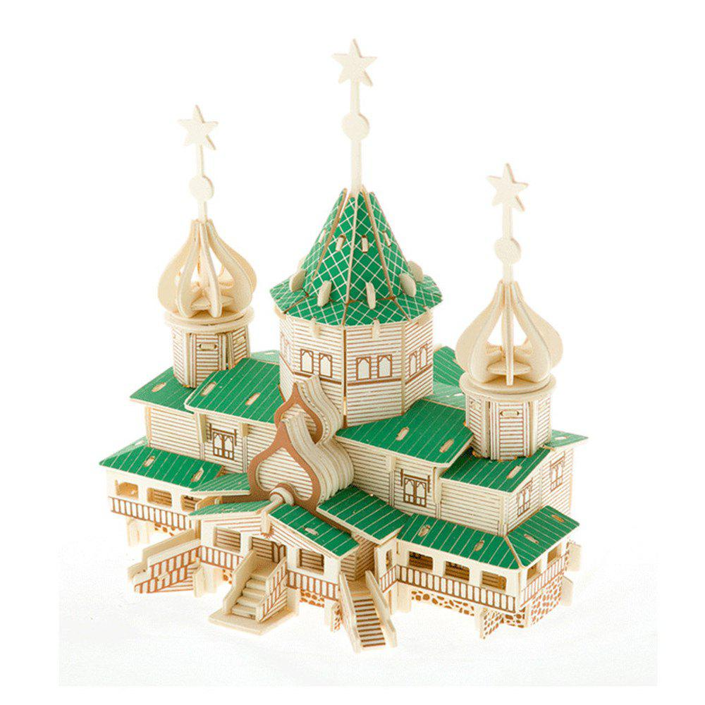 Outfits Wooden Puzzles Christmas House Model Assembling Building Kits