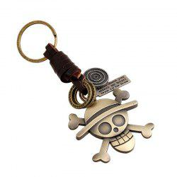 Premium Personality Vintage Woven Allo Keychain Punk Leather Key Chain -