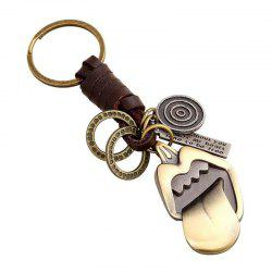 European and American Creative Alloy Retro Tongue Woven Leather Key Pendant -
