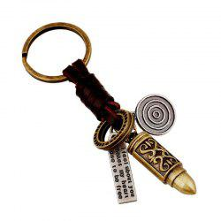 European and American Personality Creative Punk Jewelry Alloy Leather Keychain -