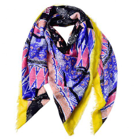 Hot Women Shawls Twill Cotton Vintage Pashmina Rhombus Printed Square Scarves