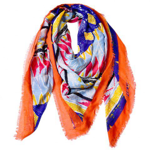 Outfit Women Shawls Twill Cotton Vintage Pashmina Rhombus Printed Square Scarves