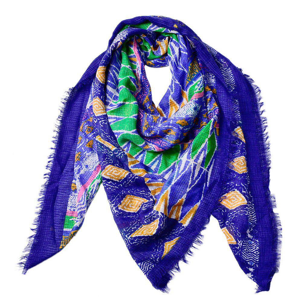 Online Women Shawls Twill Cotton Vintage Pashmina Rhombus Printed Square Scarves
