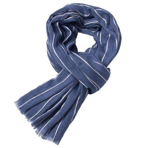 Discount Newest Fold Yarn-Dyed Striped Wrinkled Warm Soft Scarves for Men