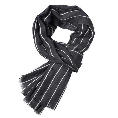 Best Newest Fold Yarn-Dyed Striped Wrinkled Warm Soft Scarves for Men