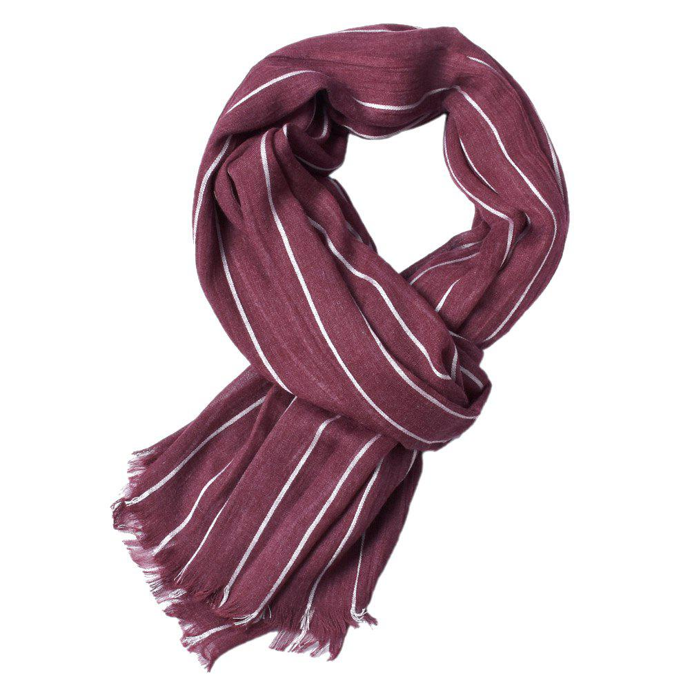Cheap Newest Fold Yarn-Dyed Striped Wrinkled Warm Soft Scarves for Men