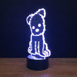 Dog Touch Colors Changing LED Night Light -