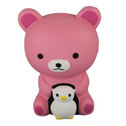 Jumbo Squishy Pink Bear and Penguin Toys -