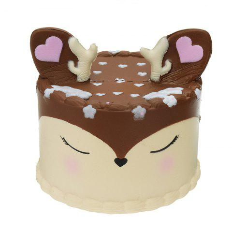 Antler Cake Jumbo Squishy Toy Slow Rising Packaging Collection Gift