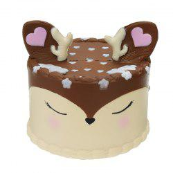 Antler Cake Jumbo Squishy Toy Slow Rising Packaging Collection Gift -