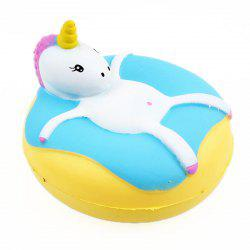 Unicorn Donut Jumbo Squishy Slow Rising Emballage Emballage Collection Cadeau Peluche -