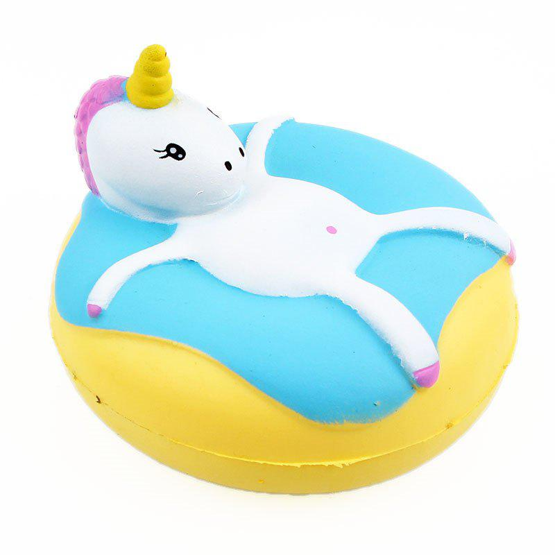 Unicorn Donut Jumbo Squishy Slow Rising Emballage Emballage Collection Cadeau Peluche