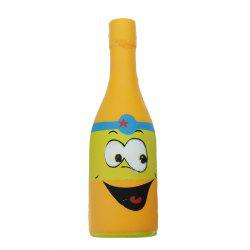 Jumbo Squishy Yellow Beer Bottle Slow Rising Soft Collection Gift Decor Toy -