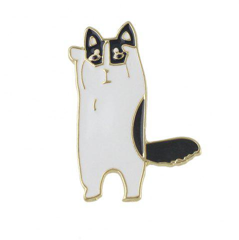 Online Gold-color with Enamel Cute Cat Brooches Pin