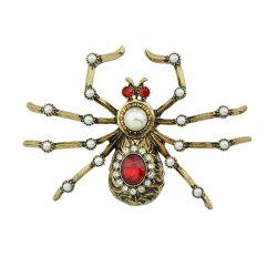 Rhinestone Insect Spider Shape Brooches for Women -