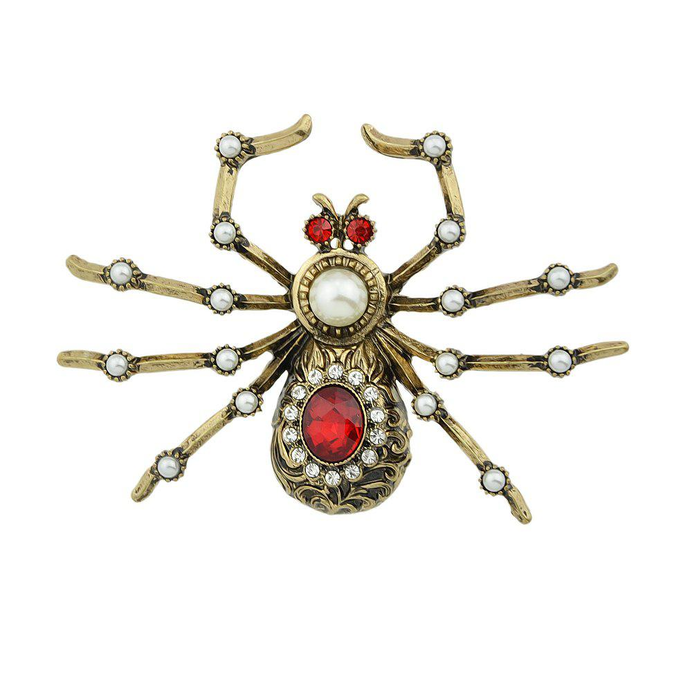 Fashion Rhinestone Insect Spider Shape Brooches for Women
