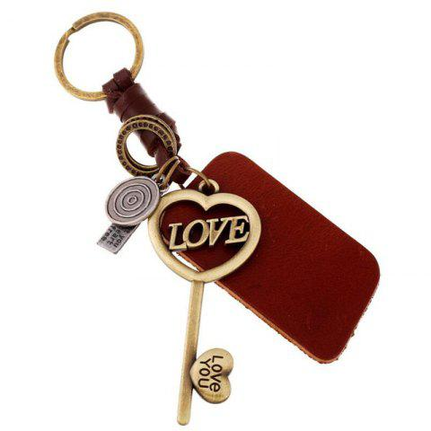 Store European and American Couple Alloy Key Leather Pendant Keychain