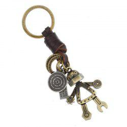 European and American Personality Retro Fashion Leather Keychain -