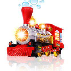 Steam Train Blowing Bubble Machine Music Light Battery Operated Liquid Kids Toy -