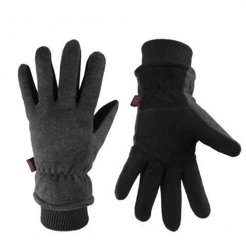 New OZERO Winter Sports Gloves Deerskin and Polar Fleece for Men and Women