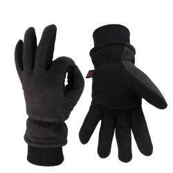 OZERO Winter Sports Gloves Deerskin and Polar Fleece for Men and Women -