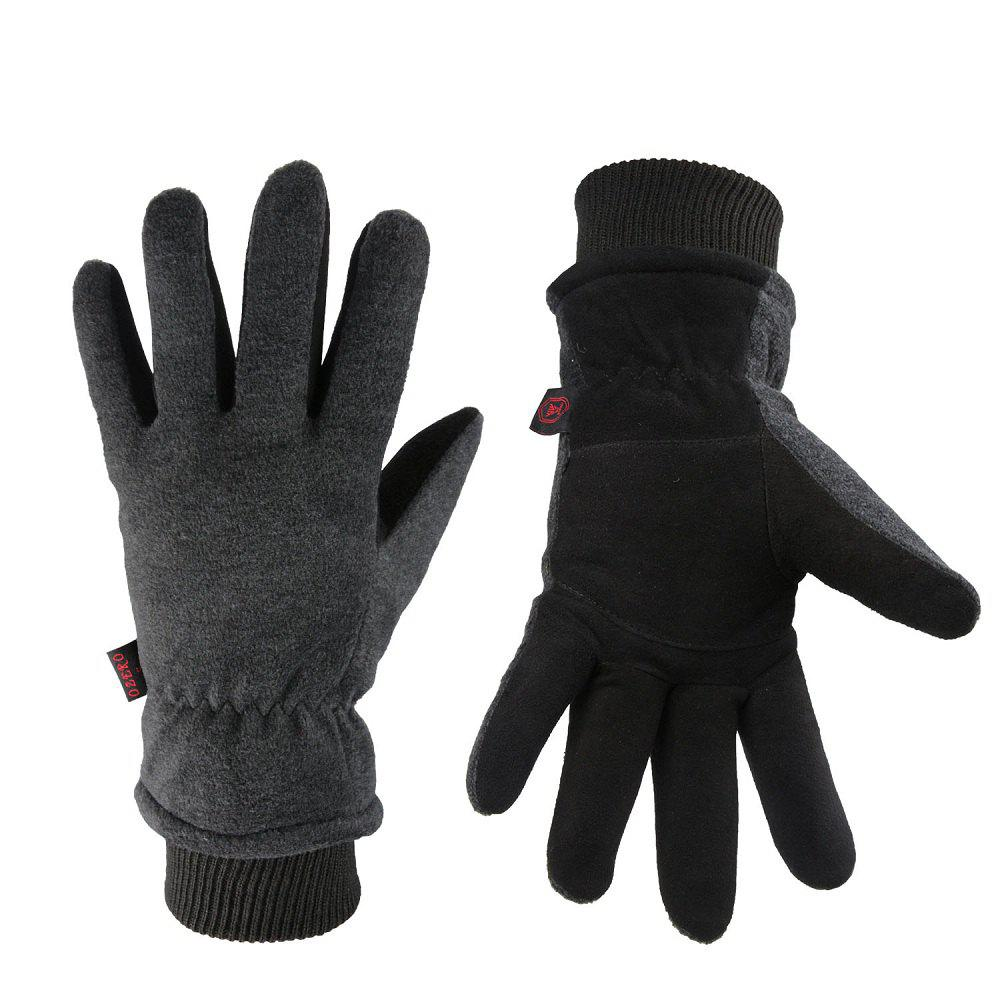 Store OZERO Winter Sports Gloves Deerskin and Polar Fleece for Men and Women