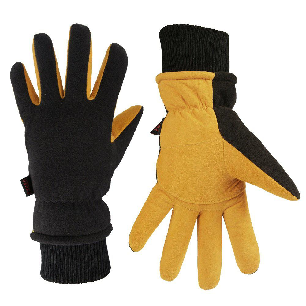 Cheap OZERO Winter Sports Gloves Deerskin and Polar Fleece for Men and Women
