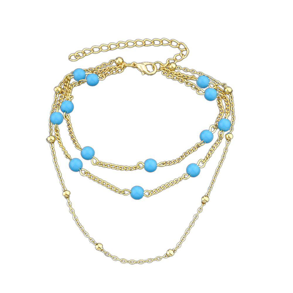 Latest Multilayers Beads Chain Anklets for Ladies
