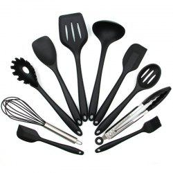 Silicone Heat Resistant Kitchen Utensils Baking Cooking Tool Sets 10PCS -