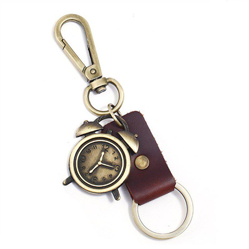 Unique Retro Metal Alarm Clock Pendant Keychain